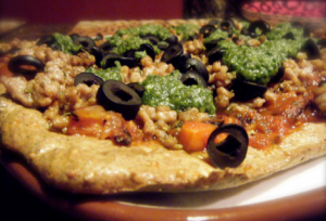 Fast Paleo's Flax Seed Pizza