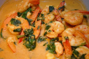 Paleo Diet Lifestyle's Shrimp and Spinach Curry