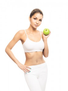 Fit Woman with Apple