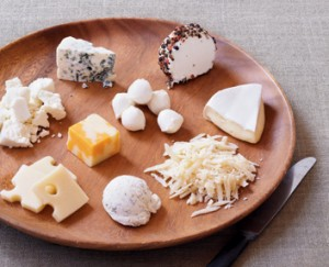 100 Calorie, Healthy Portion of Various Cheeses
